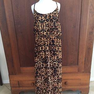 2X No Boundaries Leopard Print Dress XXL
